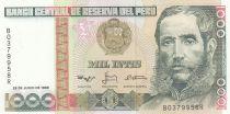 Pérou 1000 Intis M.A. Avelino Caceres - 1988