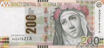 Pérou 200 Nuevos Soles Soles, I. Flores d Oliva Santa Rosa de Lima