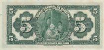 Pérou 5 Soles de Oro, Liberté - 1941 Série D21