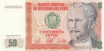 Pérou 50 Intis Nicolas de Pierola - 1987