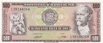 Pérou 500 Soles de Oro - Nicolas de Pierola - 1974 - P.104c - Neuf