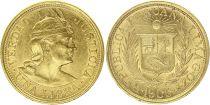 Pérou 1 Libra Indien - 1906 - Or