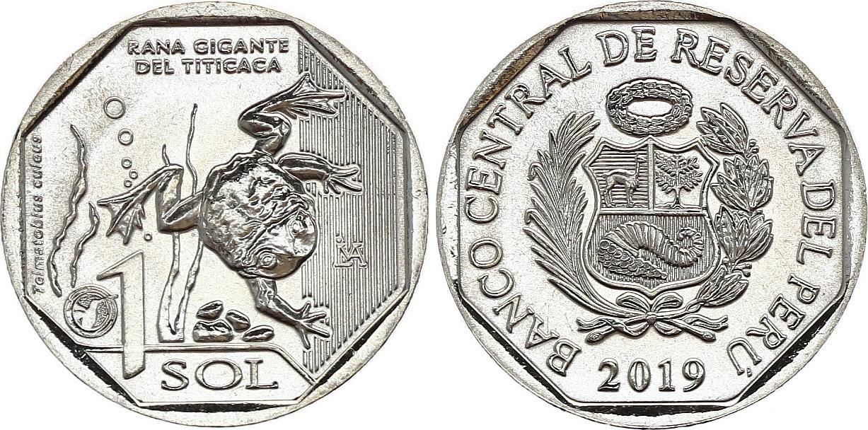 Peru 1 Sol - Frog from Titicaca - 2019 - AU