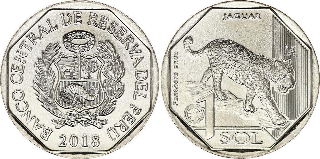 Peru 1 Sol - Jaguar - 2018
