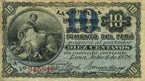 Peru 10 Centavos Woman seated