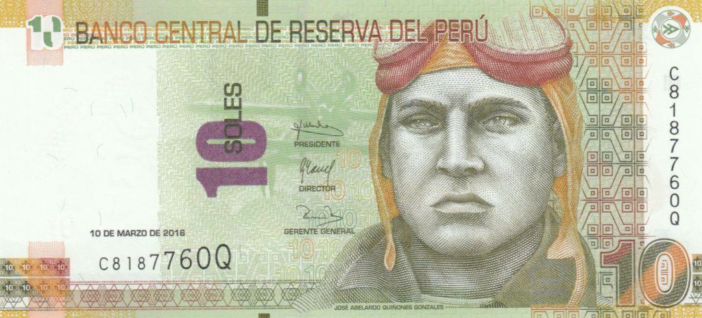 Peru 10 Soles, J. Abelardo Quinones Gonzales - 2016 (2017)