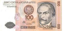 Peru 100 Intis R. Castilla - Cotton spining