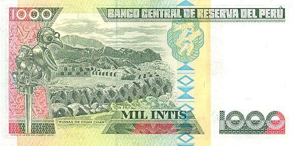 Peru 1000 Intis M.A. Avelino Caceres