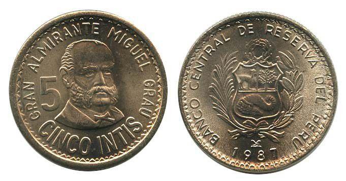 Peru 5 Intis