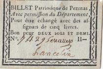 Pézenas Billet Patriotique - 1792