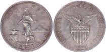 Philippines 1 Peso Femme et forge - Etats Unis - 1905 S San Francisco Argent