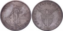 Philippines 1 Peso Woman hammer - United States - 1904 S San Francisco Silver