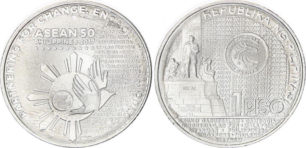 Philippines 1 piso - pièce commémorative Philippines  - 2017 ASEAN