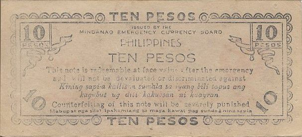 Philippines 10 Pesos Commonwealth of the Philippines - 1943