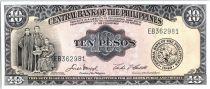 Philippines 10 Pesos Frères Burgos, Gomez, Zamora - Monument - ND (1949)