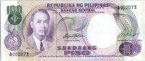 Philippines 100 Piso  - Manuel  Roxas - Banque central - 1969