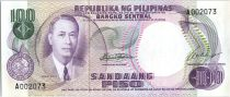 Philippines 100 Piso  - Manuel  Roxas - Banque central - 1969
