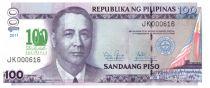 Philippines 100 Piso Prés. M. Rowas - De La Salle 1911-2011