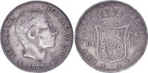 Philippines 20 Cents Alfonso XII - 1885 - Spanish Philippines
