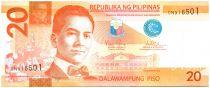 Philippines 20 Piso M.L. Quezon - Animal et paysage