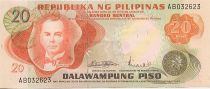 Philippines 20 Piso M.L. Quezon - Palais Malakanyang