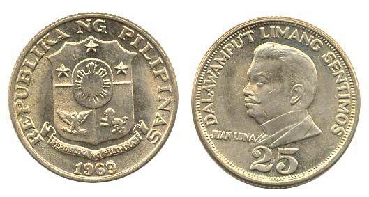 Philippines 25 Sentimo