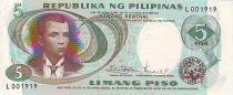 Philippines 5 Piso A. Bonifacio