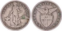 Philippines 50 Centavos - United States of America - 1918 S - KM.171