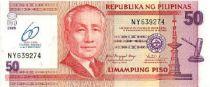 Philippines 50 Piso Prés. S. Osmeña, 60 ans Banque centrale