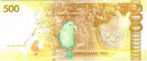 Philippines 500 Pesos Corazon et Begnino Aquino Jr - Perroquet - 2015