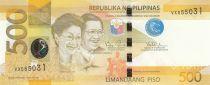 Philippines 500 Piso 2013 - Benigno Aquino - Manille