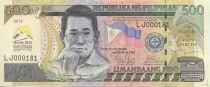 Philippines 500 Piso Benigno Aquino - Manille 2012