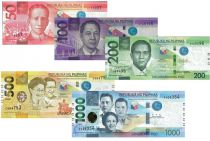 Philippines Série 5 billets 50 à 1000 Piso -  2020 - NEUF