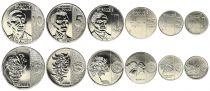 Philippines Série de  6 monnaies de 1 sent à 10 Piso - 2017