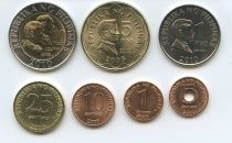 Philippines SET.1 Set of 7 coins 0.01 to 10 Piso 2005-2011