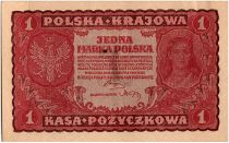 Poland 1 Marka - Red - 1919