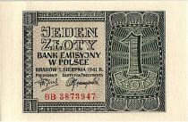 Poland 1 Zloty  - Gris - 1941