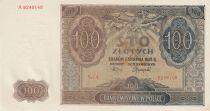Poland 100 Zlotych 1941 -  Angel - Spires church