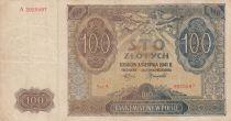 Poland 100 Zlotych 1941 - Brown, Church - Serial A 3925597