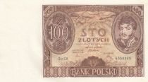 Poland 100 Zlotych Prince J. Poniatowski - 1934  - AU - P.74 Serial CK