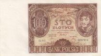 Pologne 100 Zlotych Prince J. Poniatowski - 1934  - SUP Série B.D.