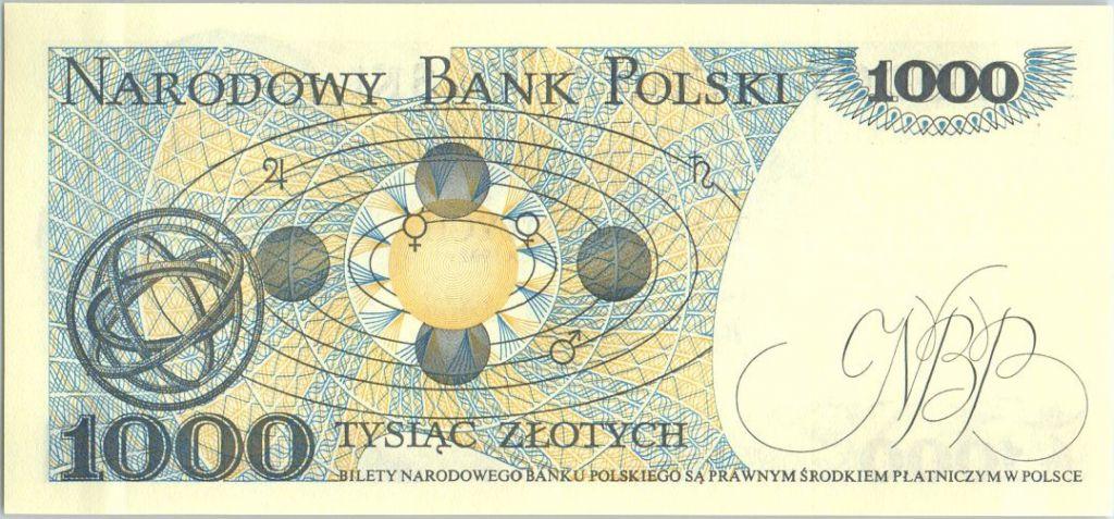 Poland 1000 Zlotych 1982 - Copernic