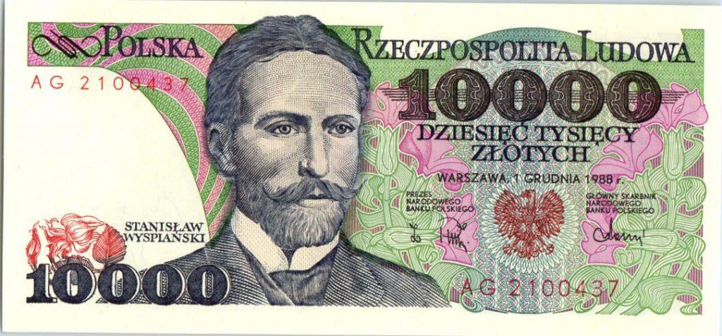 Poland 10000 Zlotych 1988 -  Stanislaw Wyspianski