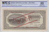 Poland 1000000 Marek  - Town view - Eagle - 1923  -  Specimen - PCGS 55