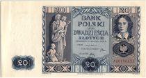 Poland 20 Zlotych  Emilia Plater - 1936