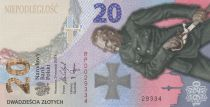 Poland 20 Zlotych Battle of Warsaw - 2020 - UNC in folder