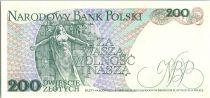 Poland 200 Zlotych 1988 - J. Dabrowski