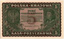 Poland 5 Marek - T. Kosciuszko - 1919
