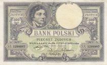 Pologne 500 Zlotych  T. Kosciuszko - Aigle couronné - 1919 - TTB