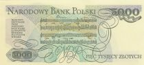 Poland 5000 Zlotych 1988 - F. Chopin - Serial CS